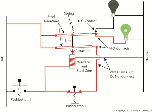 latch relay wiring diagram latched relay engineering expert witness blog latched electric relay circuit
