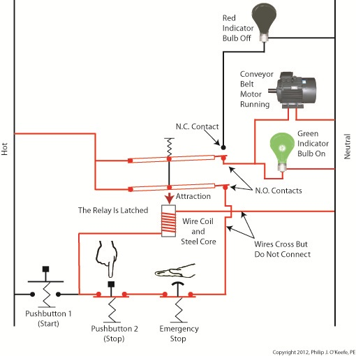 industrial control basics emergency stops engineering expert rh engineeringexpert net e-stop circuit diagram emergency stop circuit diagram