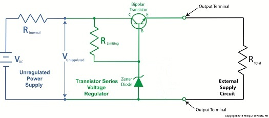 transistor voltage regulator circuit