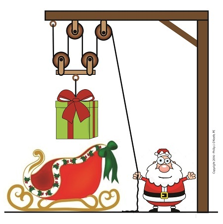 Pulleys Make Santa's Job Easier
