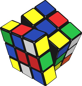 A Compound Pulley's Numerical Puzzle is Like a Rubik's Cube